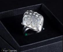fehérarany rombusz gyűrű