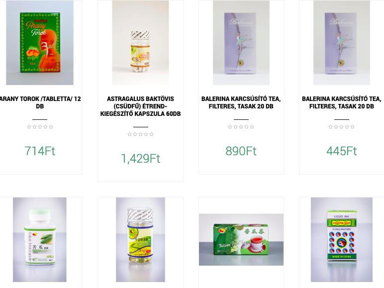 gyógyhatású termékek