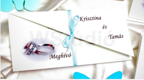 keresztvágott esküvői meghívó